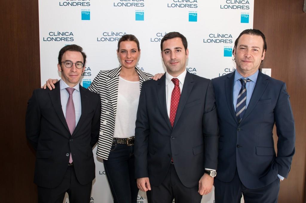 Alejandra Osborne con el equipo de Clínica Londres